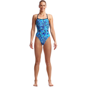 Funkita Strapped In One Piece Badeanzug Damen blue bird